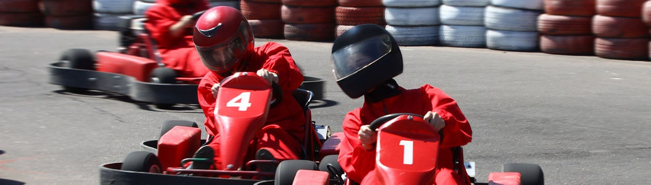 Go Kart racing on the best tracks around