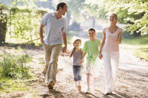 Lovely Family Stroll