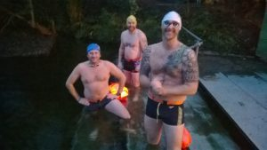 Swimming in a natural spring