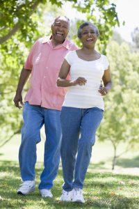Elderly Couple having a leisurely walk